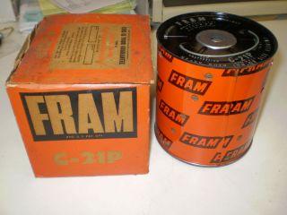 Fram C 21P C21P Oil Filter Cannister Type Same as AC P 115 Purolator PD51R