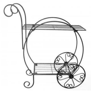 French Flower Wire Art Planter Vendor Cart Plant Stand