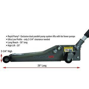 Low Profile Floor Jack with Rapid Pump® 2 5 Ton Heavy Duty Steel