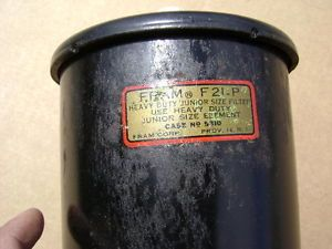 Jeep Willys MB GPW CJ2A Jeepster Dodge WC Truck Fram Oil Filter Canister