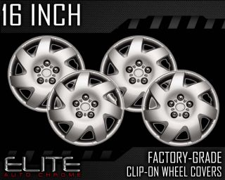 """2002 2006 Toyota Camry 16"""" Silver Clip on Hubcaps"""