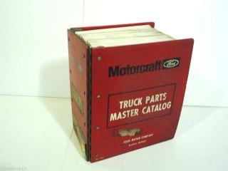 1980 1989 Ford Truck Master Parts Catalog F150 F250 F350 Ranger Bronco E150