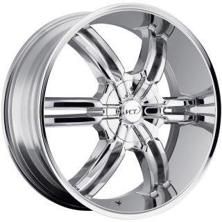 "22"" Chrome VCT Torino Wheels Rim GMC Sierra Chevy Silverado 1500 Tahoe Ford F150"