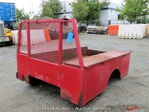 8 ft Utility Service Truck Body Tool Box Cab Guard Storage Boxes Bidadoo