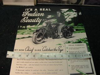 1948 Indian Motorcycle Poster Its A Real Indian Beauty