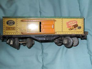 Lionel Train Freight Car from 1950s Number 1679 Baby Ruth Ad Sliding Doors