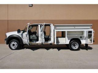 2006 Ford F 550 XLT Crew Cab Diesel Rawson Koenig Utility Bed 1 Owner F550