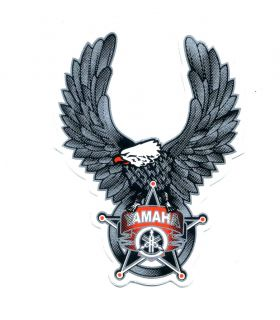 Yamaha Logo Eagle Silver Black Motorcycle Car Helmets RARE Decals Sticker L104