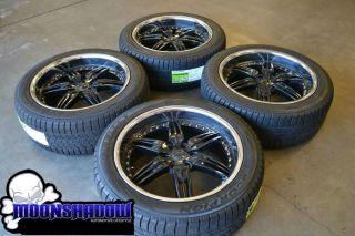 "22"" FOOSE DF 6 Black Chrome Wheels Rims Ford F150 Expedition Pirelli Tires"