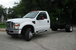 2008 Ford F550 XL 6 4 Diesel Cab Chassis 14' Bed Tow Truck Flatbed Utility Box
