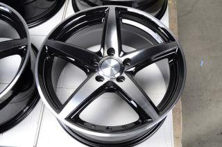 17 5x112 Black Wheels Jetta Audi A4 A6 A8 Passat Mercedes Benz CLK 5 Lug Rims