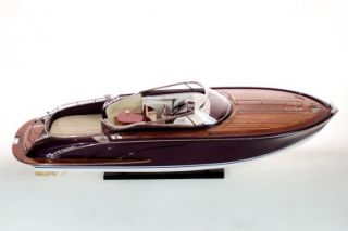 Riva Rama 35 4 inches Wooden Model Boat Open Hull for RC