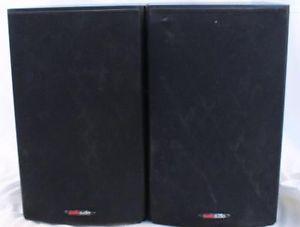 Pair Of Black Polk Audio T15 Bookshelf Speakers Main Stereo