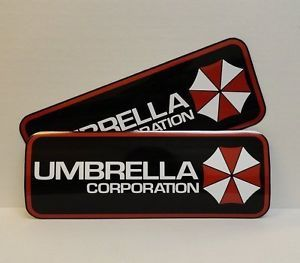 Resident Evil Umbrella Corp 2 Magnetic Car Door Signs Zombies