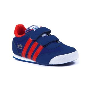 Toddler Boys adidas Dragon Athletic Shoe, Royal Red Whites