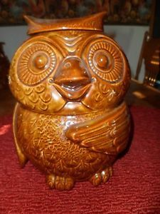 "McCoy ""Woodsy"" Owl Cookie Jar Book Listed 1970's Mark 204 USA"