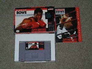 Riddick Bowe Boxing SNES Super Nintendo Complete