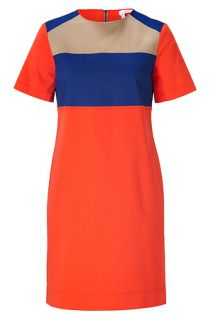 Orange/Navy/Beige Colorblocked Cotton Dress by 10 CROSBY DEREK LAM