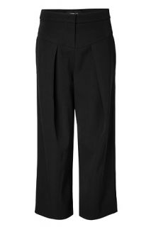Black 7/8 Length Pants by DEREK LAM