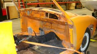 Karmann Ghia 1971 71 Body w Doors Front Hood Deck Lid Transmission
