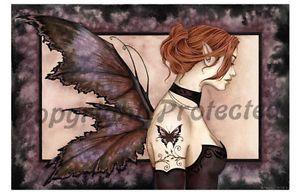 Amy Brown Butterfly Tattoo II Faery Fairy Print Fantasy