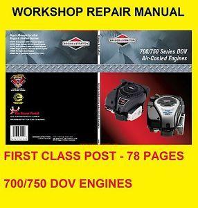 Briggs and Stratton Dov 700 750 Engine Repair Manual Push Garden Lawnmower