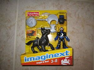 Fisher Price Imaginext Castle New Knight Wolf Axe Shield Mask Dog Eagle Talon