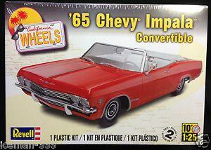 Revell 1965 65 Chevy Impala Convertible Califronia Wheels Model Car Kit
