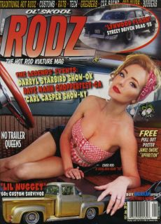 OL' Skool Rodz 61 Magazine Hot Rod Rat Custom Pin Up Gasser Bobber Rockabilly