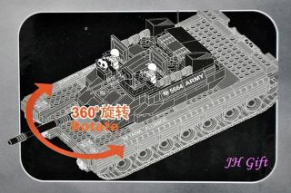Army Super Tank Truck Union Minifigures Military Building Blocks Bricks Mega Set