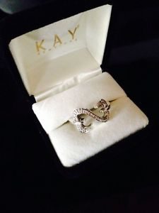 Open Heart Ring Jane Seymour Size 9