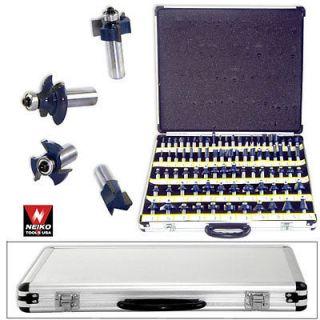 """80 1 4"""" Shank 3 Blades Tungsten Carbide Router Bit Case Wood Cutter Smooth Case"""