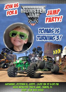 Monster Truck Jam Custom Invitations U Print