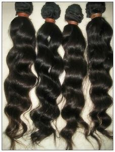 3 Bundles of 14 inch 100 Virgin Brazilian Hair Deep Wave