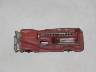 Vintage Manoil 709 Diecast Fire Engine Truck Antique Toy Car 1940s Pumper Old