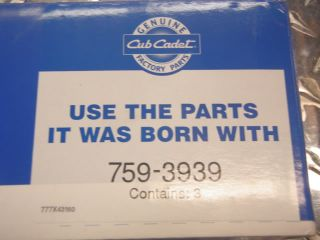 Cub Cadet 3 Blade Set 2518 44 GT2186 44 759 3939