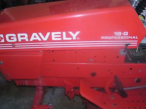 """Gravely Professional 18 G 4 Wheel Riding Tractor with 50"""" Mulching Deck"""