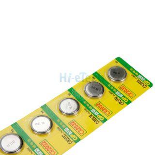 5X GP 3V 3 Volt CR2032 CR 2032 F L5 Lithium Li ion Button Coin Cells Battery HK