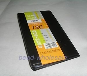 1x Black Office Business Name Card Holder Organizer Book Pouch Folder 120 Cards