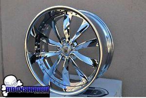 "22"" asanti AF505 Chrome Staggered Wheels Rims BMW 7 Series 745 750 Brand New"