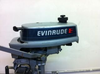 1986 Evinrude 1 2HP 2 Stroke Outboard Motor Boat Engine Water Ready 2 4 6 8