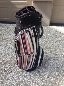 Sassy Caddy Ladies Golf Cart Bag Women's Golf Flirty Collection Black Pink White
