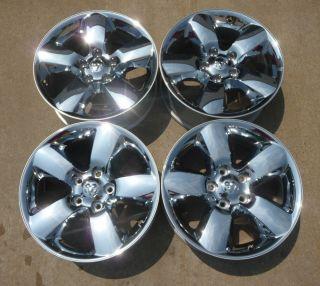 "2014 Dodge RAM 1500 20"" Factory Chrome Clad Alloy Wheels 2450"