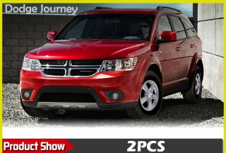 Chrome Body Side Mirror Cover Trim Molding Exterior 2pcs for 2013 Dodge Journey