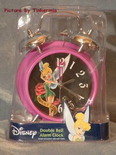 New Sweet Love Tinkerbell Double Bell Alarm Clock Tink
