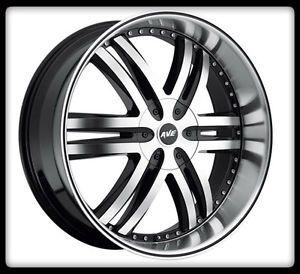 """20"""" x 9"""" Avenue A607 Black Wheels Rims 35x12 50x20 Nitto Trail Grappler Tires"""