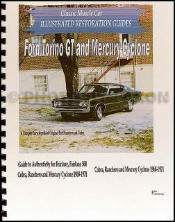 Fairlane Ranchero Torino Restoration Parts Guide 1968 1969 1970 1971 Ford