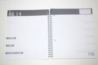 New Victoria's Secret Pink School Planner Organizer Work Calendar 2013 14 Galaxy