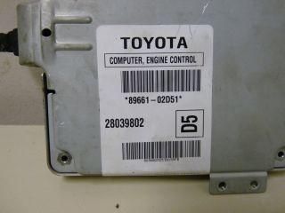 2005 2006 Toyota Corolla Matrix ECU ECM Engine Computer 89661 02D51