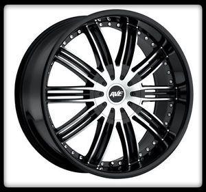 """24"""" Avenue A603 Machined Wheels Rims 38x13 50x24 Lt Nitto Trail Grappler Tires"""